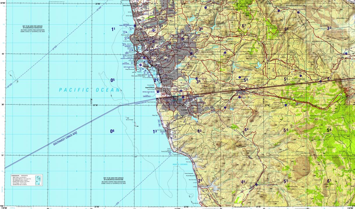 Topographic Map Of San Diego.Download Topographic Map In Area Of San Diego Tijuana Chula Vista