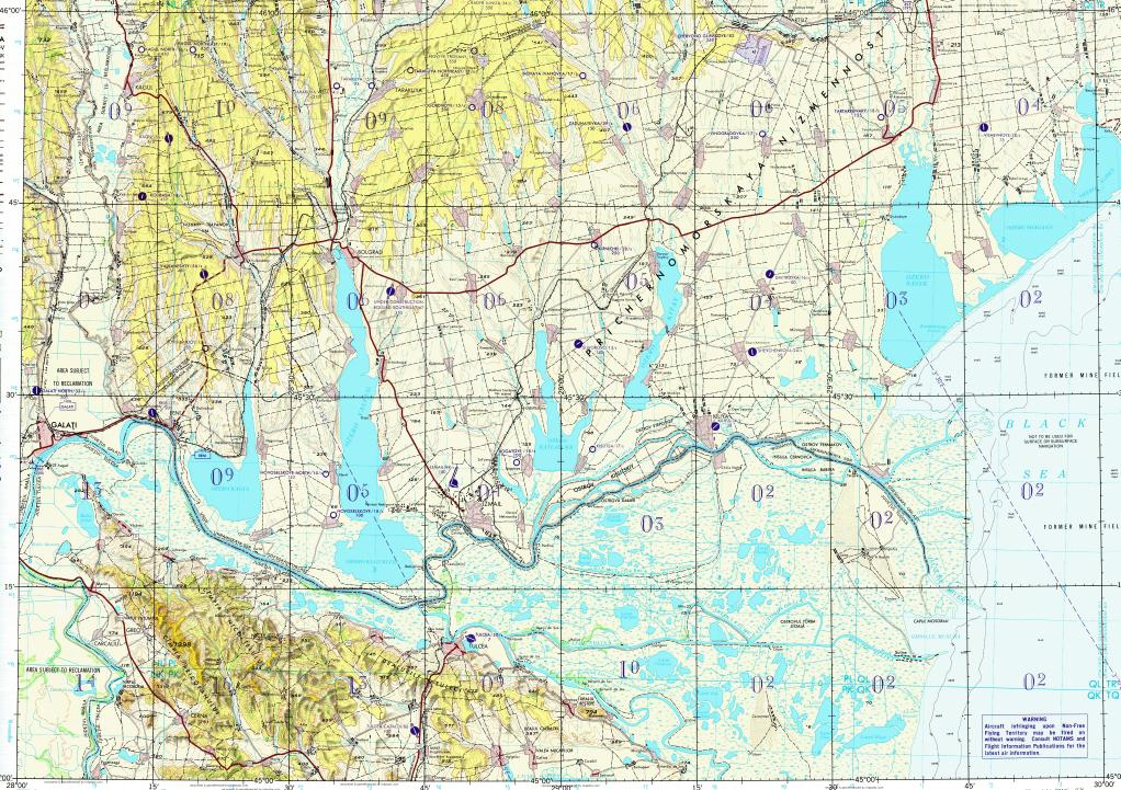 Download topographic map in area of Galati, Izmail, Reni - mapstor.com