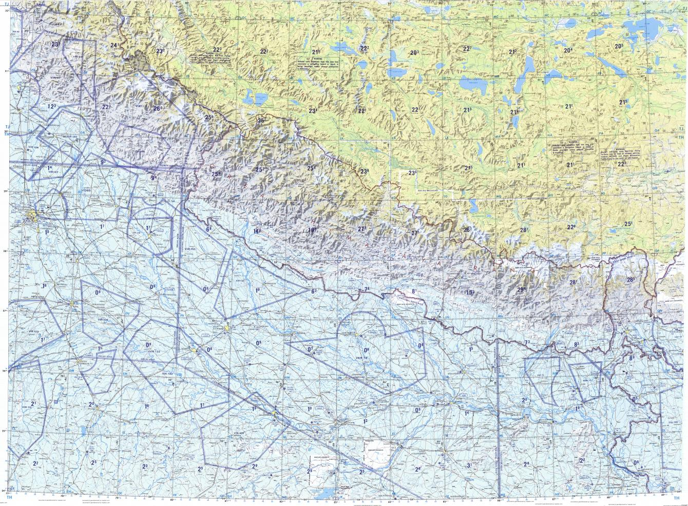 Download topographic map in area of Delhi Kanpur Lucknow mapstorcom
