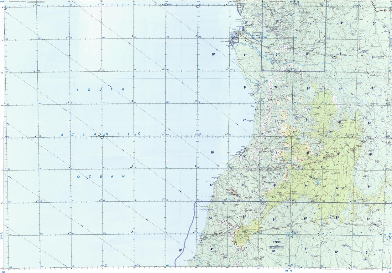 Download topographic map in area of Luanda Huambo Namibe mapstorcom