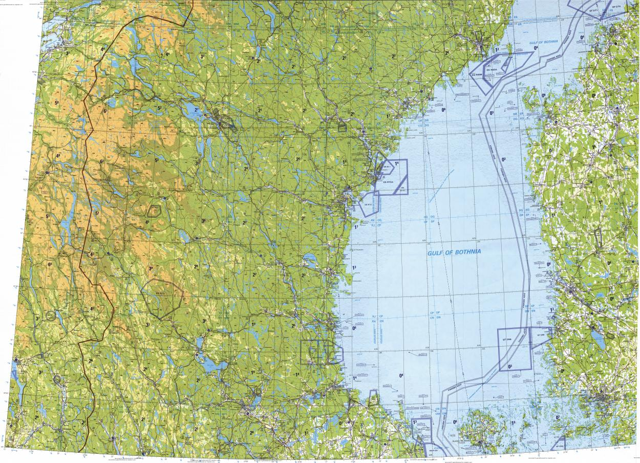 Download Topographic Map In Area Of Turku Gavle Sundsvall - Sweden map topographic