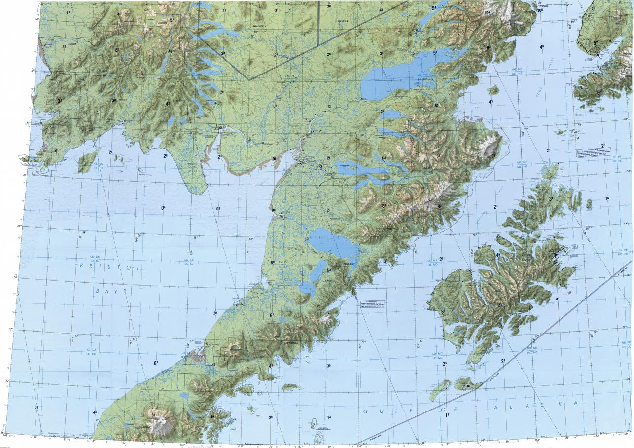 Download topographic map in area of Goodnews Bay South Naknek