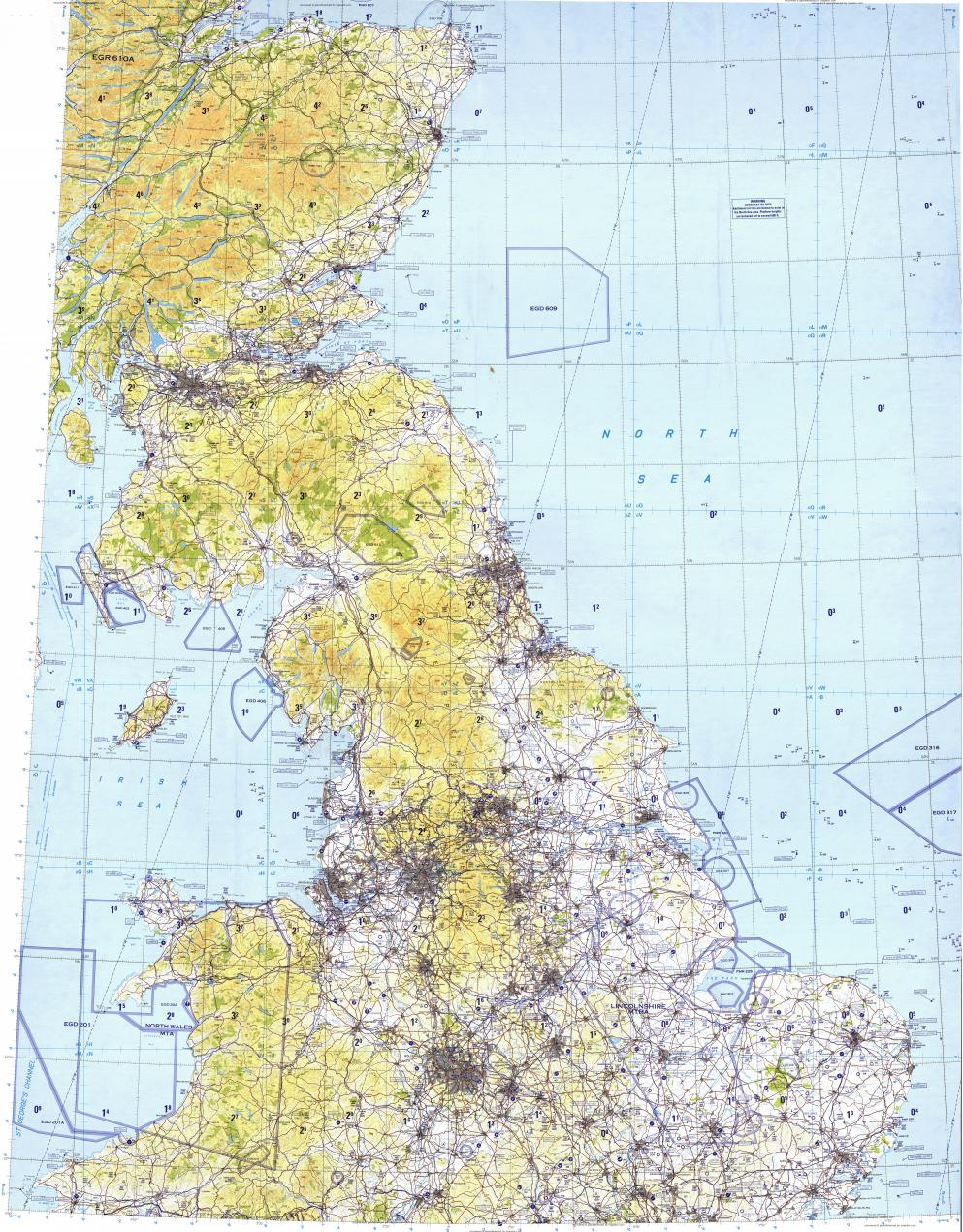 Download Topographic Map In Area Of London Birmingham Manchester - London map manchester