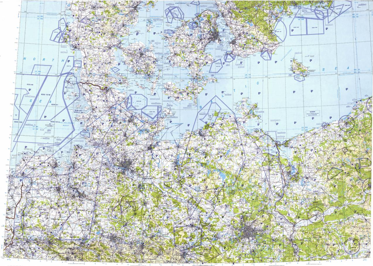Download topographic map in area of Hamburg Berlin Hannover