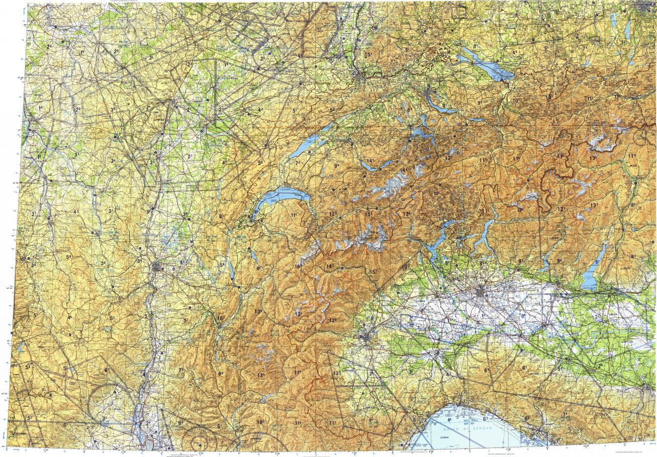 Download Topographic Map In Area Of Milano Torino Lyon Mapstor Com
