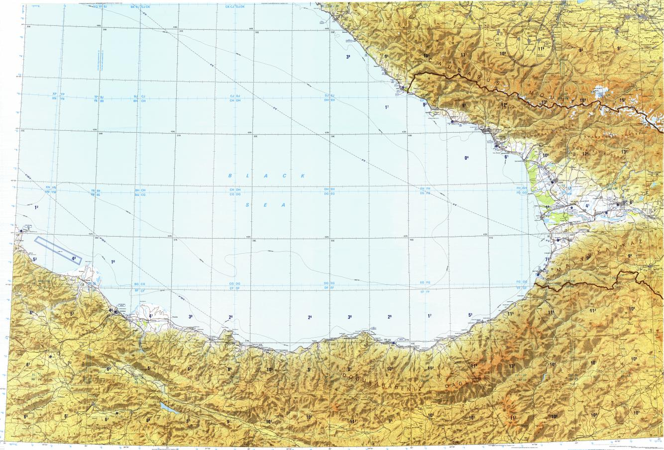 Download topographic map in area of Kutaisi Sochi Rize mapstorcom