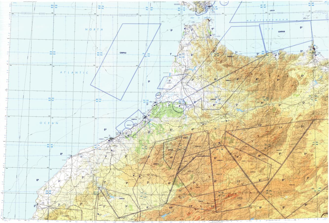 Download topographic map in area of Casablanca Fes Rabat mapstorcom