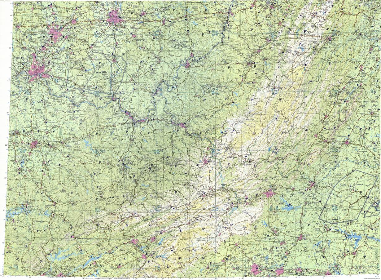 Download Topographic Map In Area Of Cincinnati Columbus Greensboro