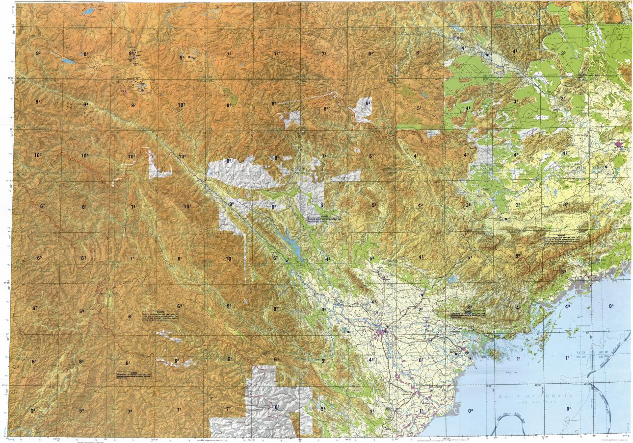 Download topographic map in area of Hanoi Haiphong Na Giao