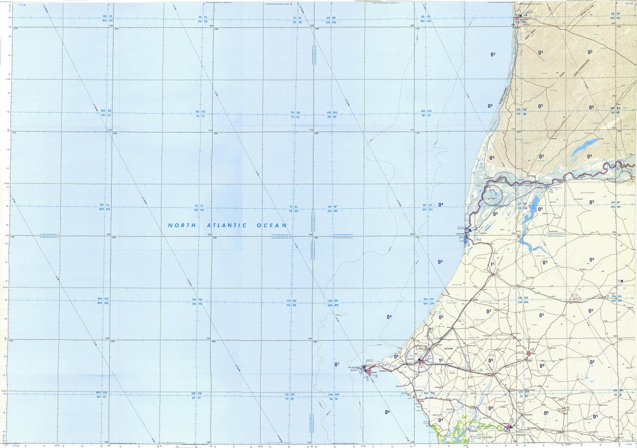 Download Topographic Map In Area Of Dakar Kaolack Thies - Pikine map