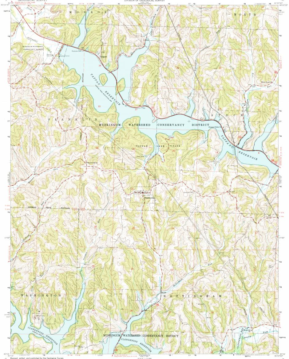 Download Topographic Map In Area Of Deersville Mapstorcom