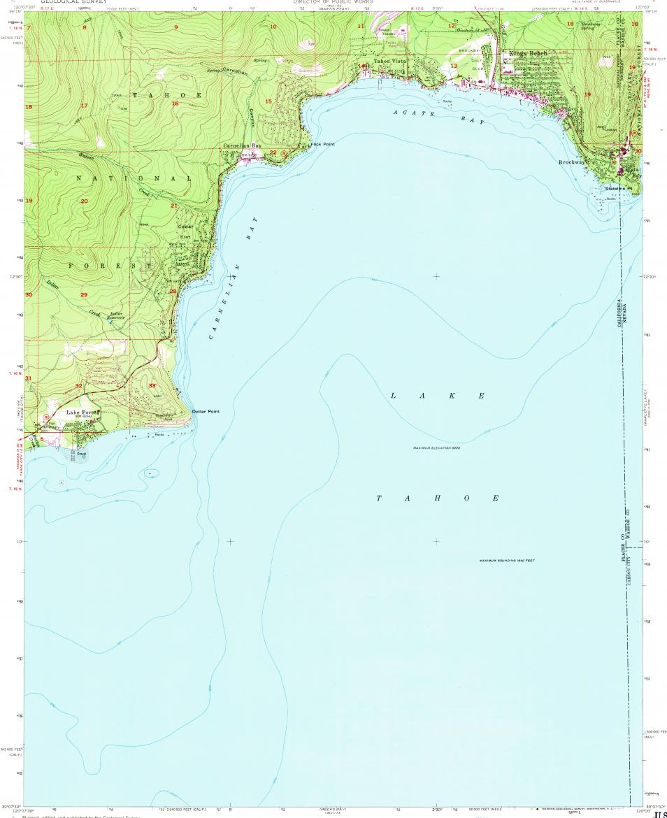 Download topographic map in area of Kings Beach, Tahoe Vista, Dollar on santa fe springs map, fresno map, coloma map, rancho murieta map, brentwood map, loomis map, thunderbird lodge map, lake tahoe map, dollar point map, gardena map, pollock pines map, berkeley map, donner pass map, mons map,