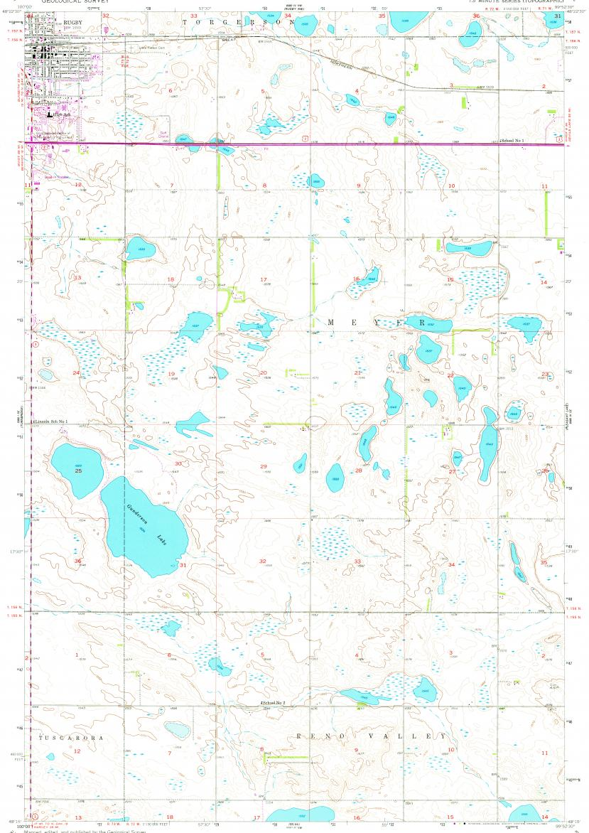 Reduced Fragment Of Topographic Map En Usgs 024k 038903