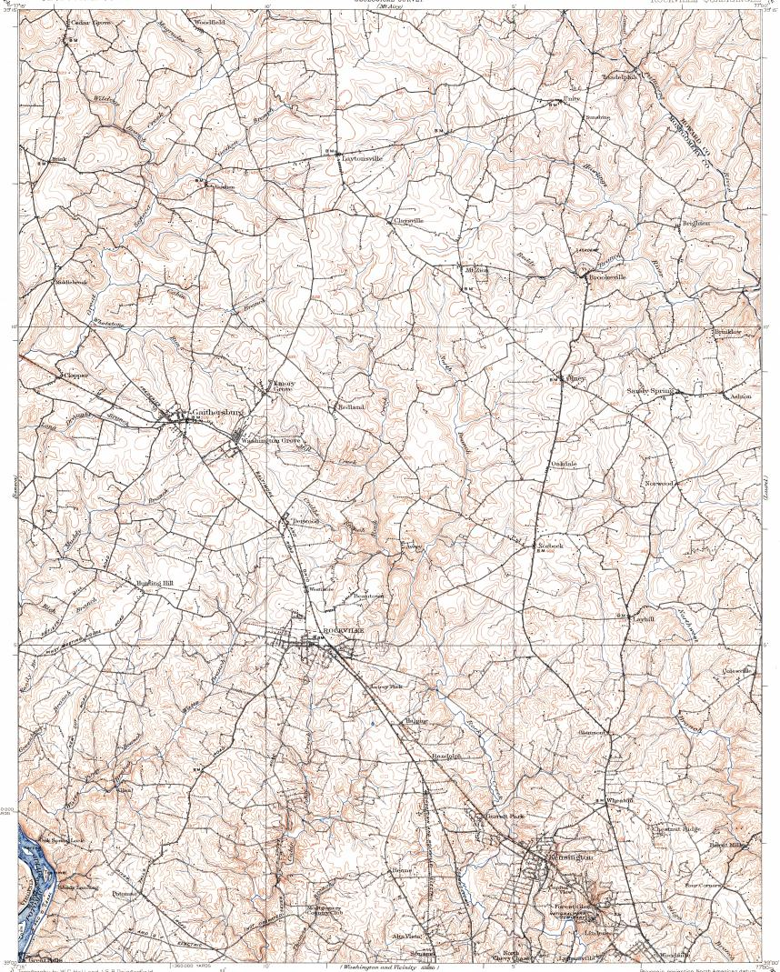 Download topographic map in area of Silver Spring Wheatonglenmont