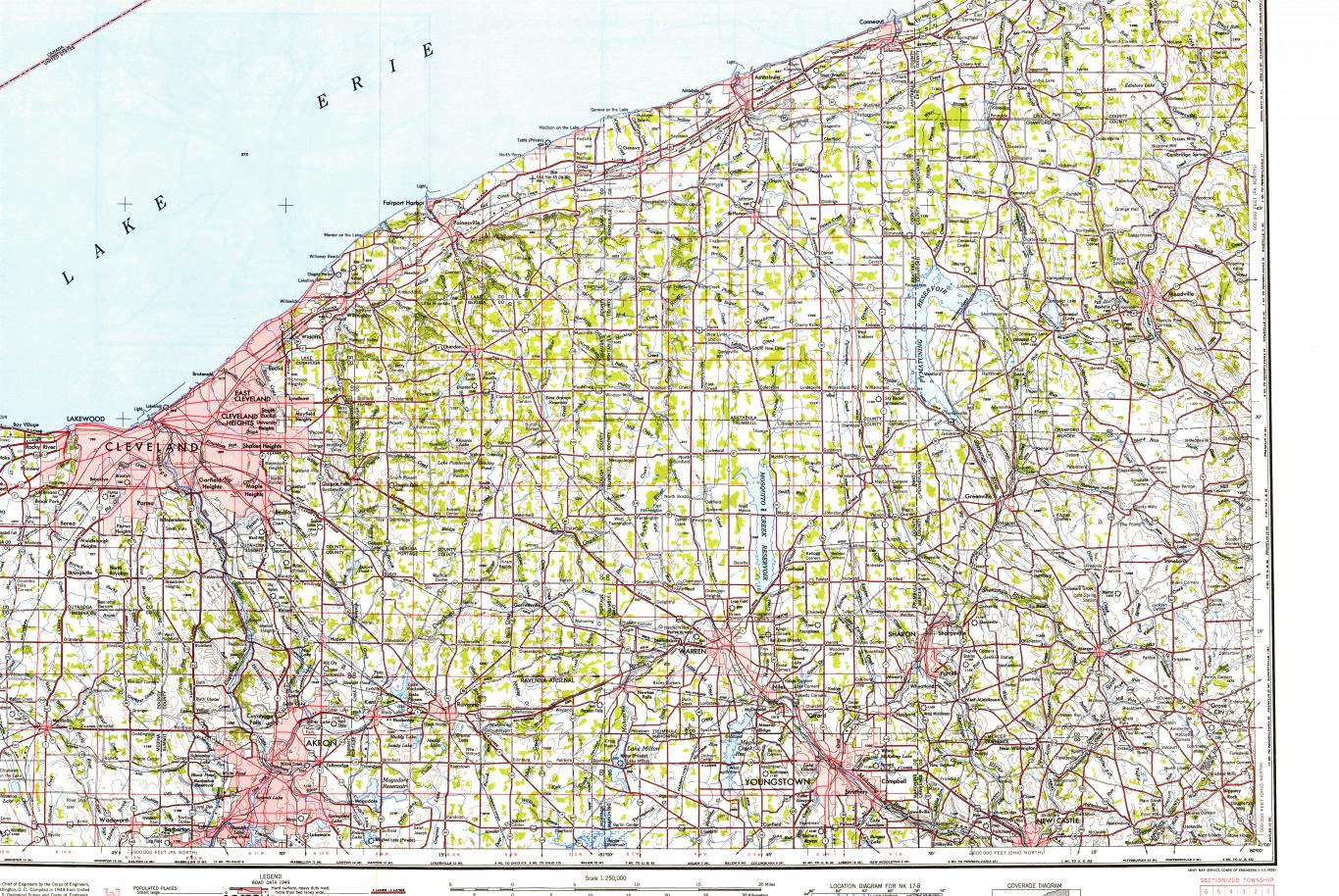 topographic map cleveland ohio Download Topographic Map In Area Of Cleveland Akron Youngstown