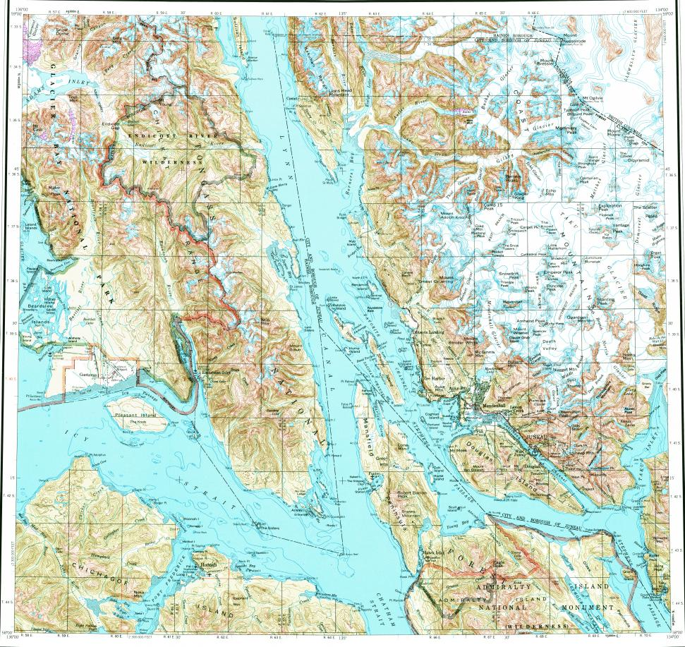 Topographic Map Game.Download Topographic Map In Area Of Juneau Game Creek Gustavus