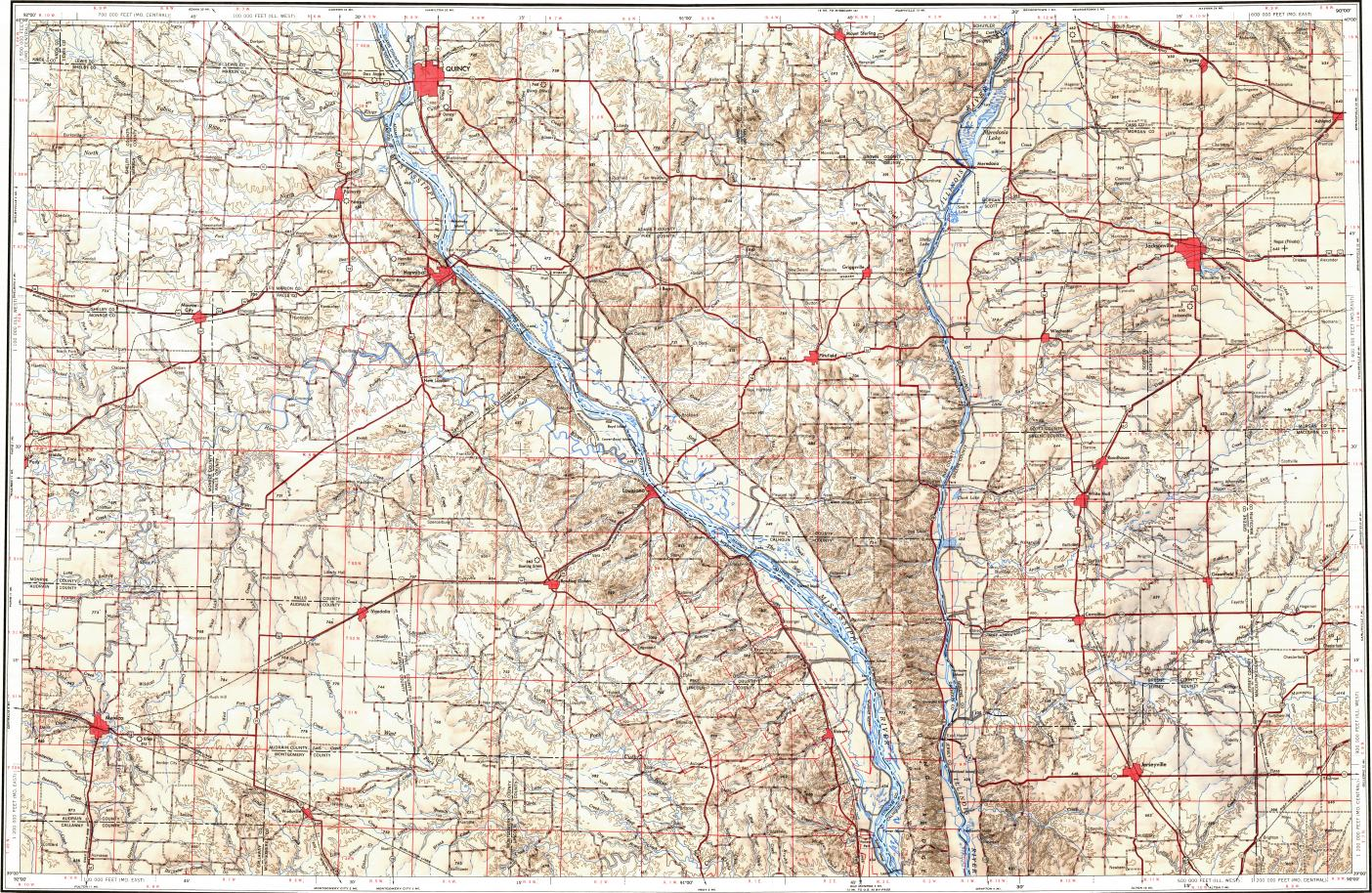 reduced fragment of topographic map en usgs 250k 068979