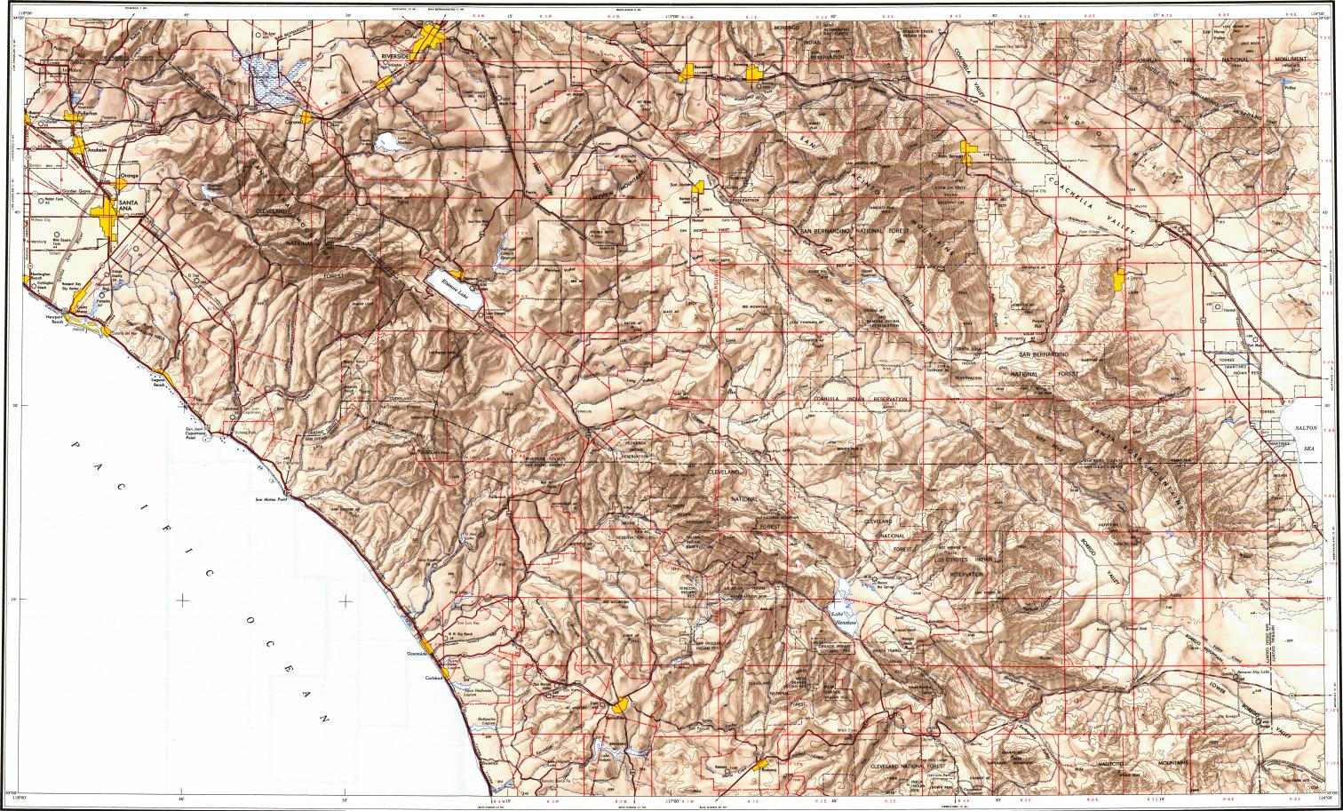 Reduced Fragment Of Topographic Map En Usgs 250k 069016