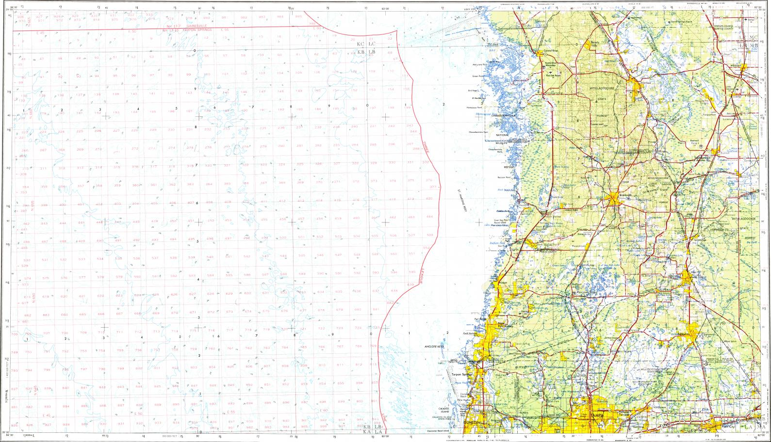 Download topographic map in area of Town n Country Palm Harbor