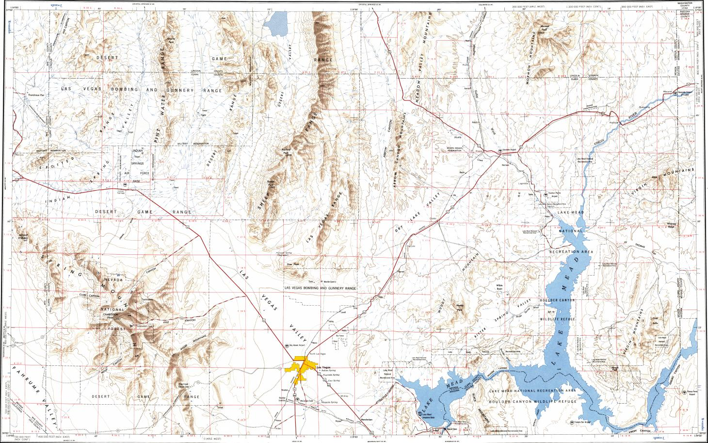 topographic map las vegas Download Topographic Map In Area Of Las Vegas Paradise Henderson Mapstor Com