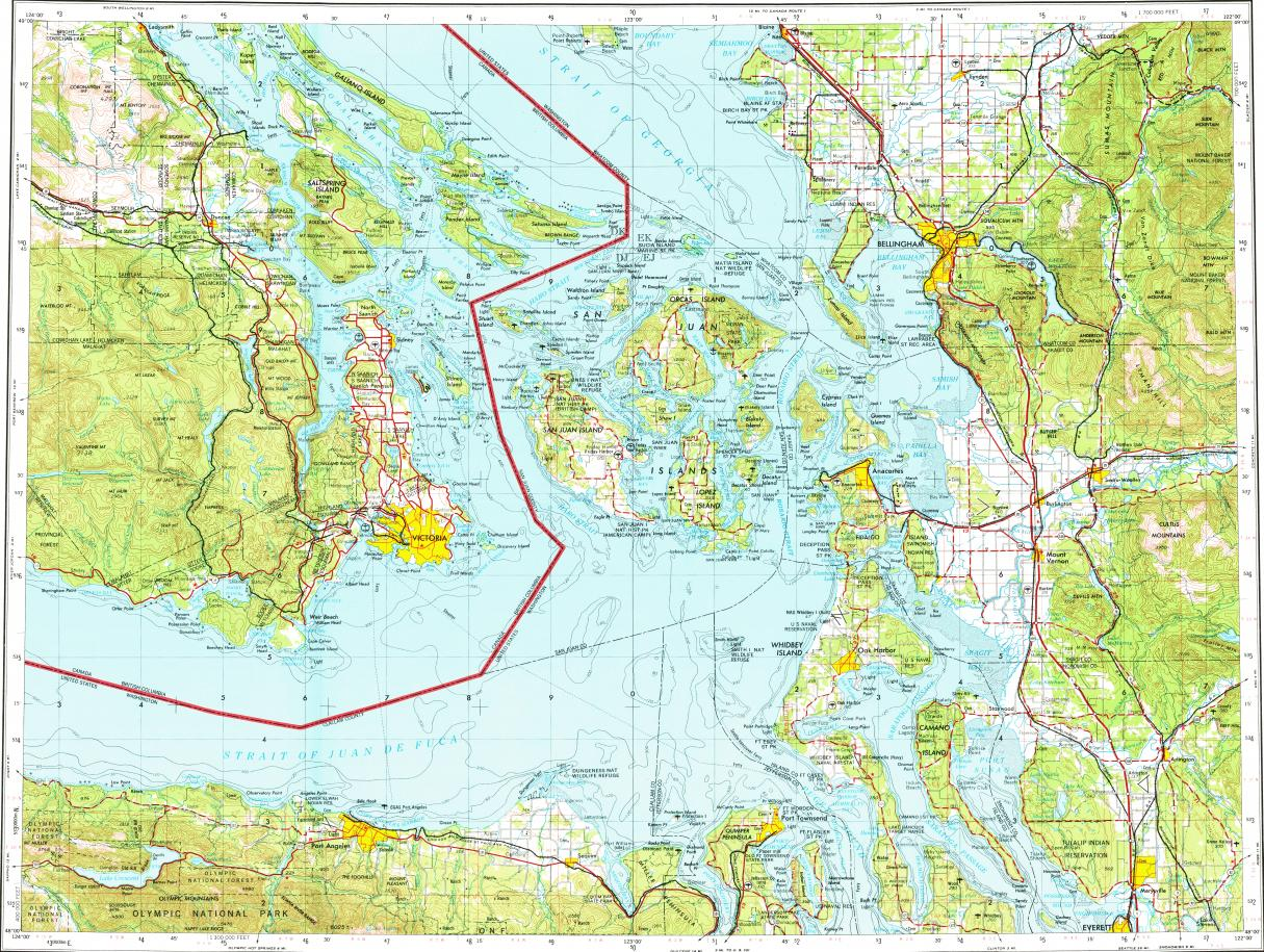 Download topographic map in area of Victoria Bellingham North