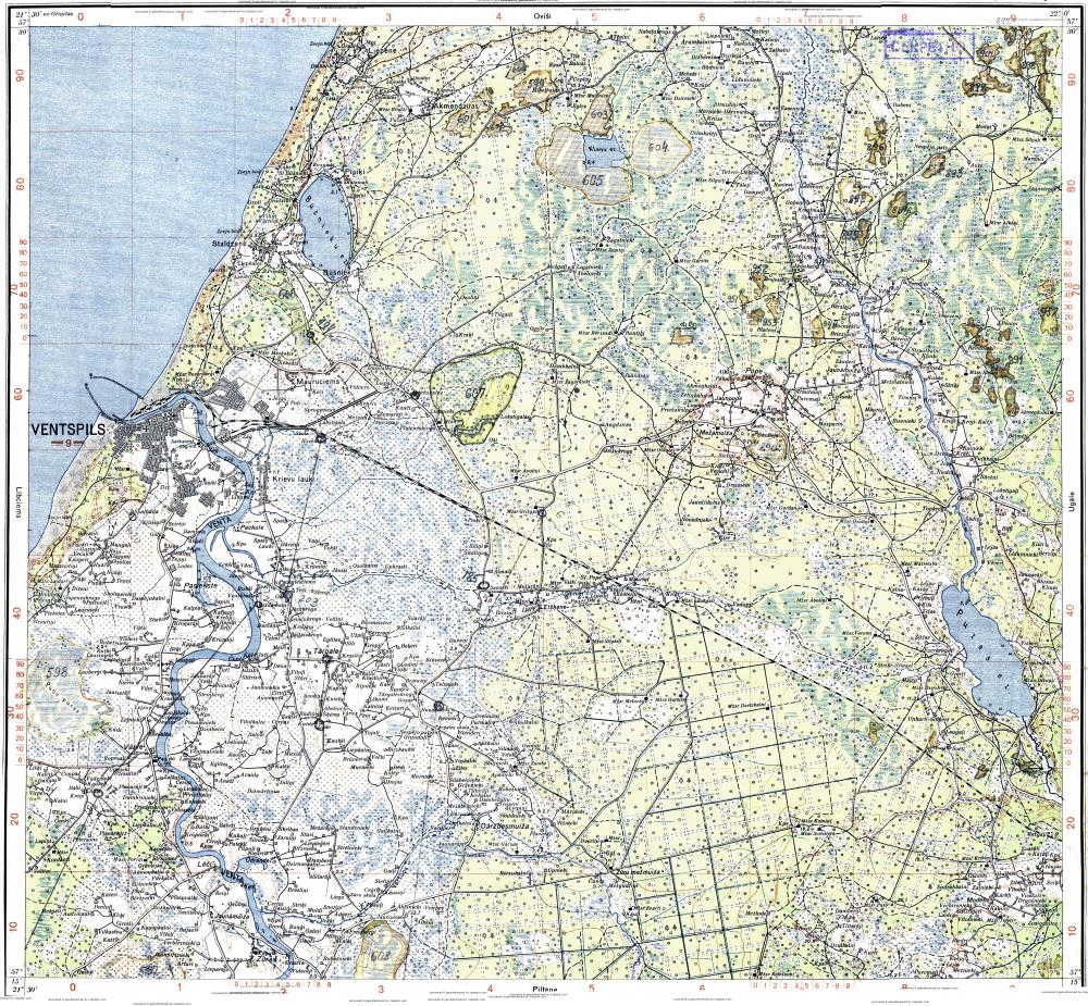 Download topographic map in area of Ventspils Varve mapstorcom