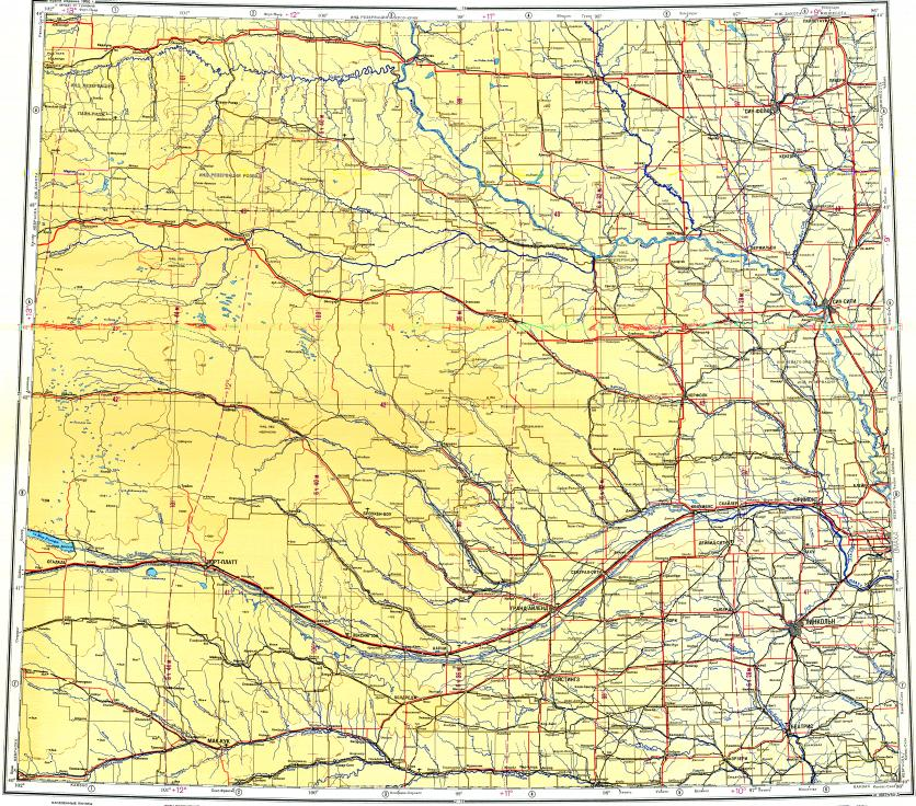Download topographic map in area of Omaha, Lincoln, Sioux
