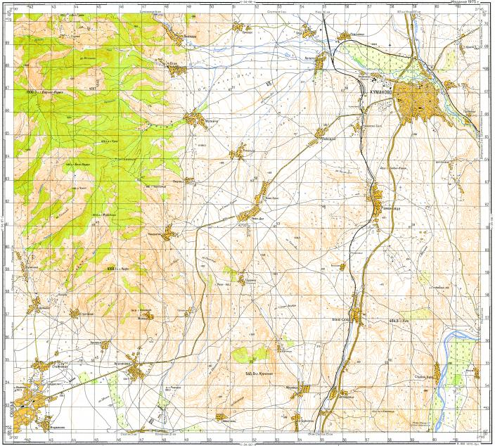Download topographic map in area of Kumanovo mapstorcom