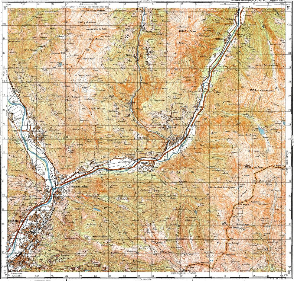 Download topographic map in area of Bellinzona mapstorcom