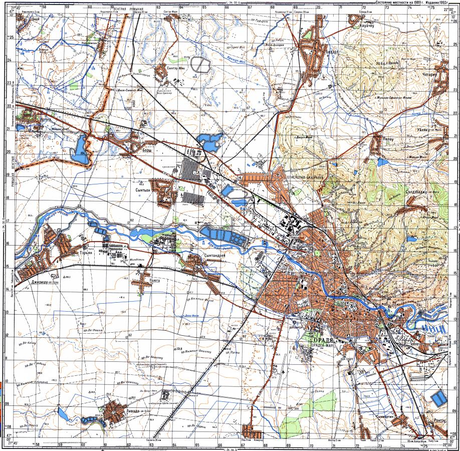 Download topographic map in area of Oradea mapstorcom
