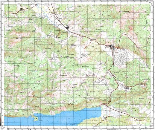 Download topographic map in area of Mugla Ula mapstorcom