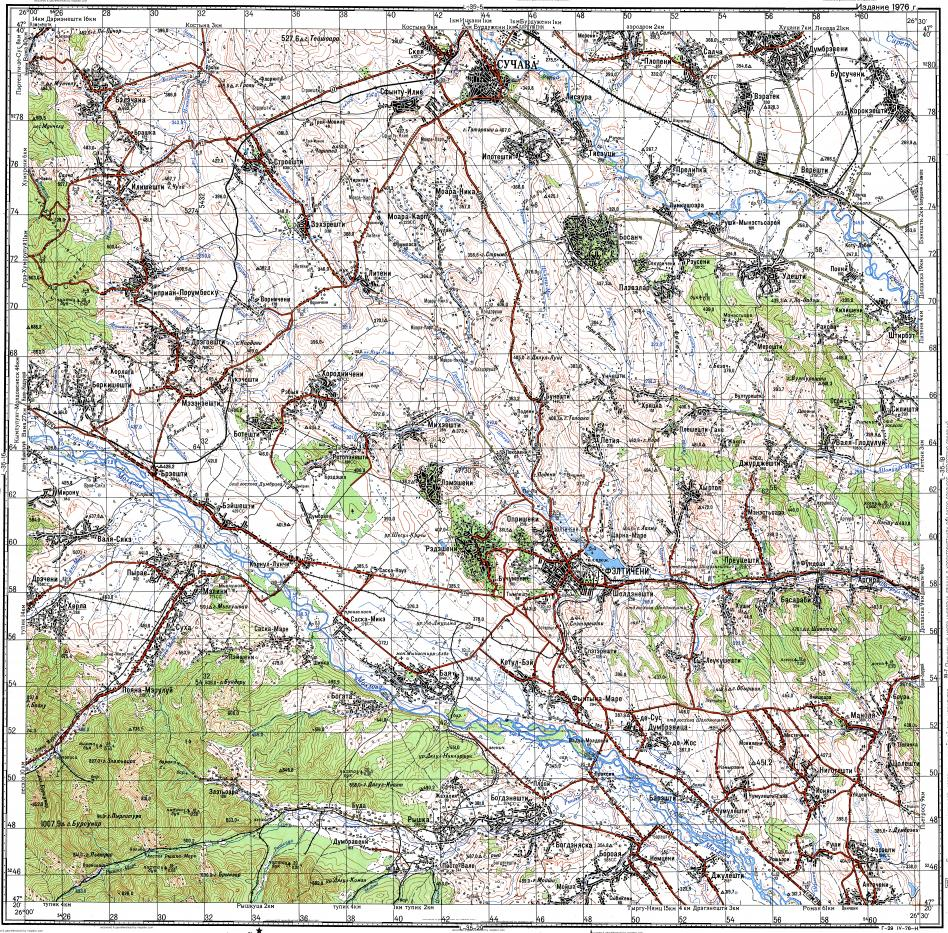 Download topographic map in area of Suceava Faliceni mapstorcom
