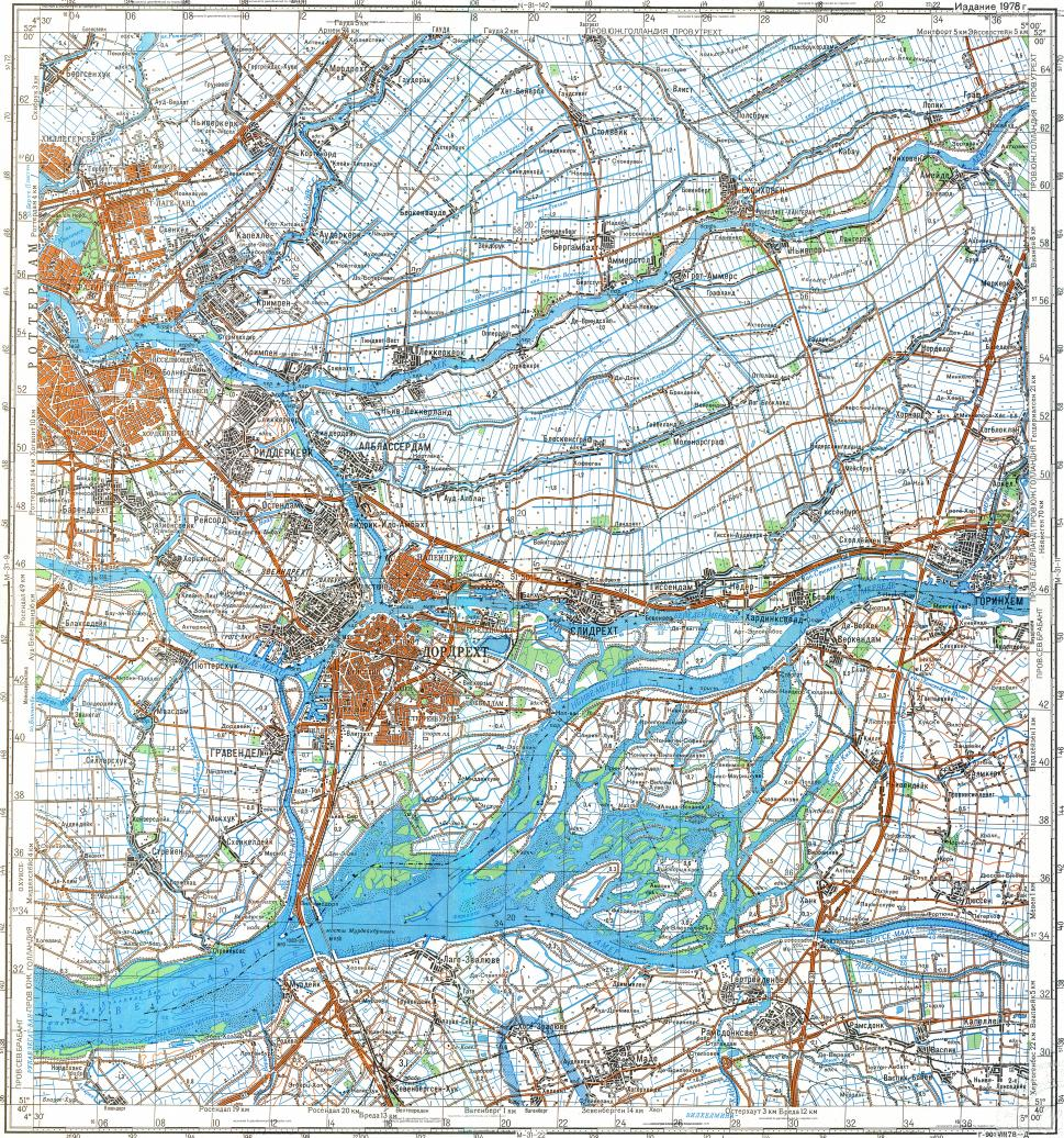 Download topographic map in area of Rotterdam Dordrecht mapstorcom