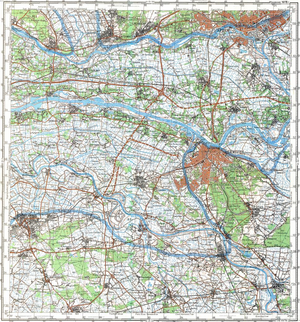 Download topographic map in area of Nijmegen Arnhem mapstorcom
