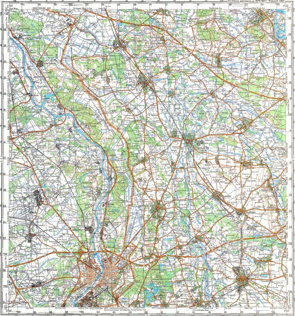 Download topographic map in area of Venlo mapstorcom