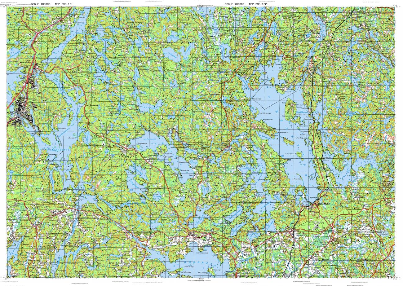 Download topographic map in area of Heinola Vuohijarvi mapstorcom