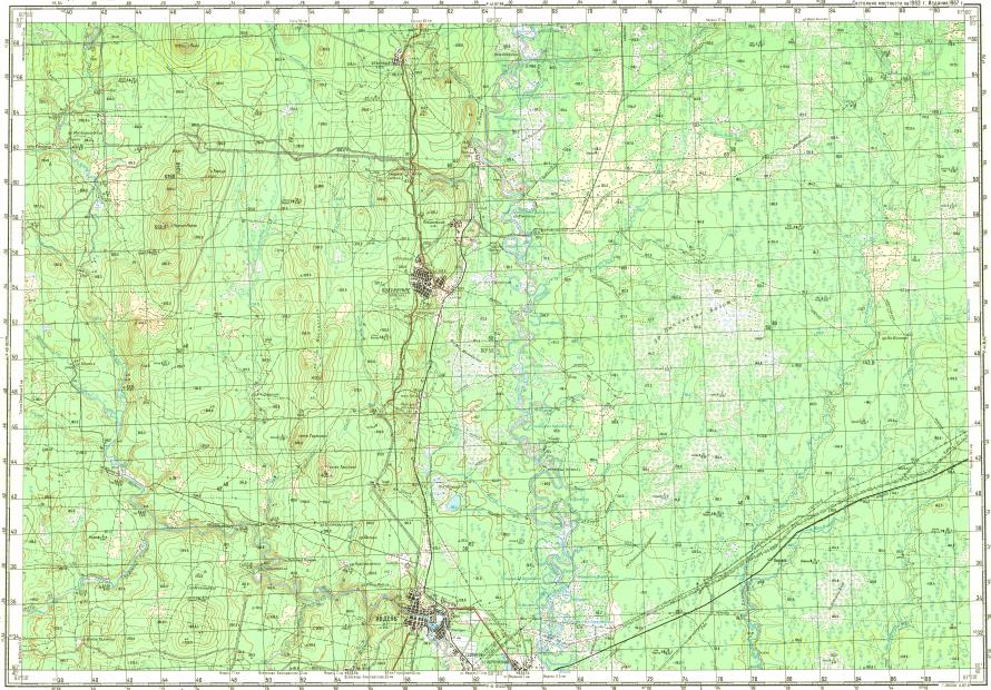 Download topographic map in area of Ivdel Polunochnoye Novara