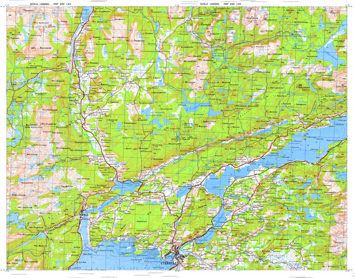 Download topographic map in area of Steinkjer Elda Malm mapstorcom