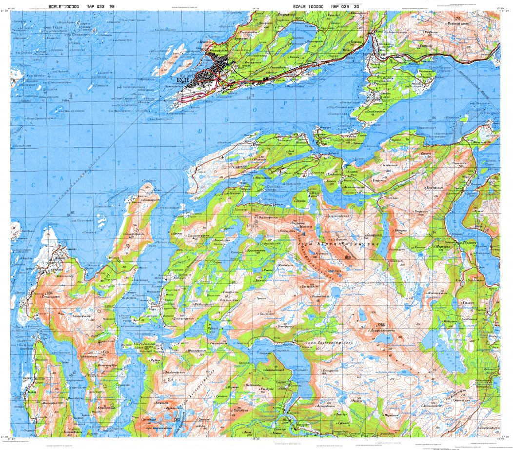 Download topographic map in area of Bodo Inndyr Marnes mapstorcom