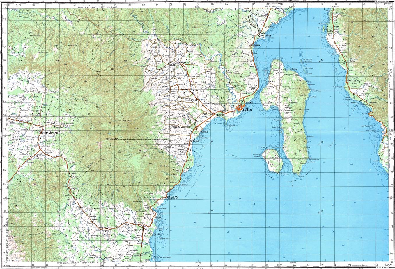 Download topographic map in area of davao pangubatan bulacanon reduced fragment of topographic map ru gs 200k b51 gumiabroncs Choice Image