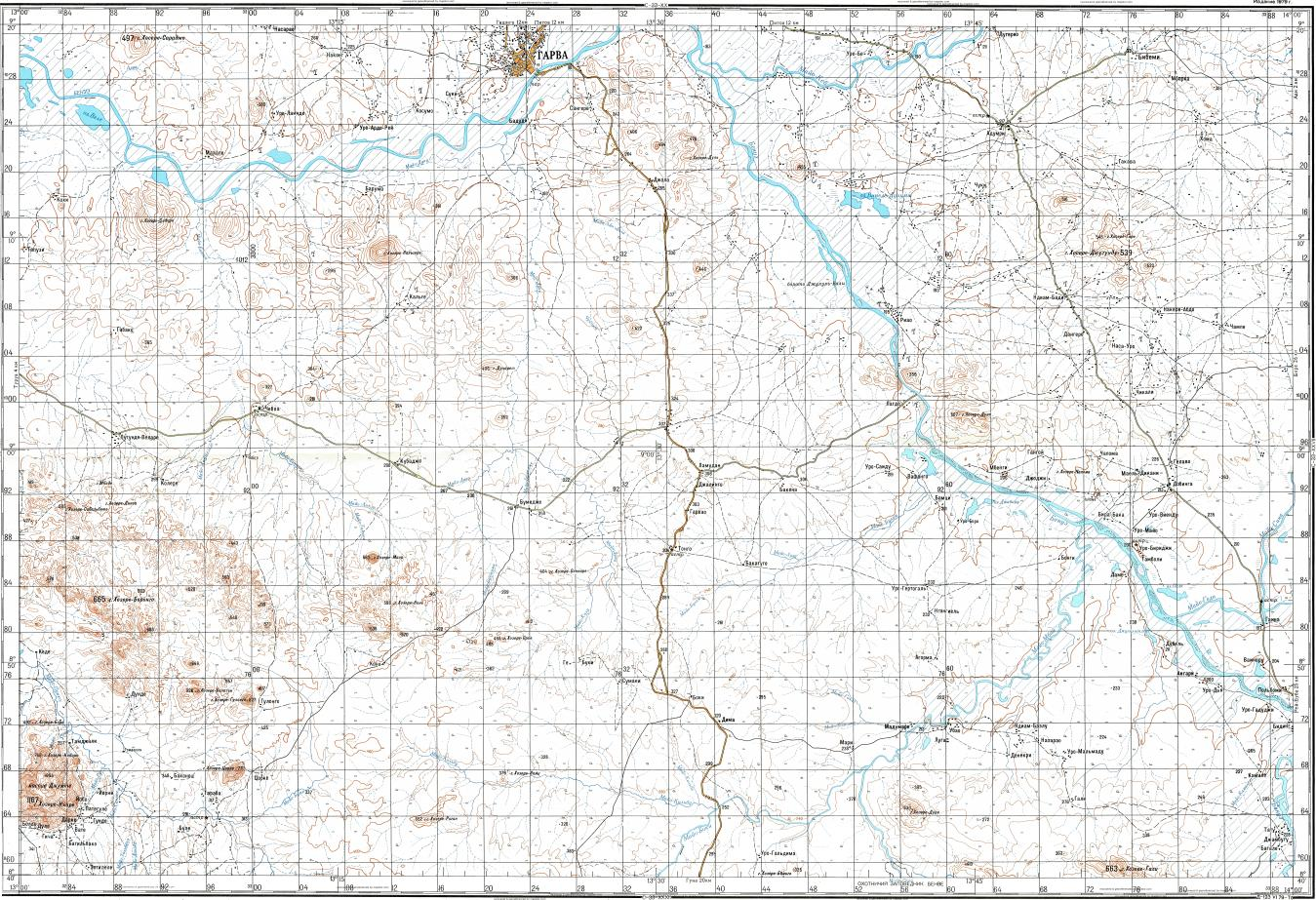 Download topographic map in area of Garoua Tcheboa mapstorcom