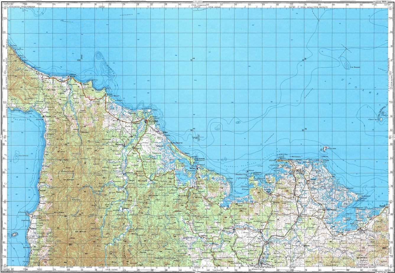 Download Topographic Map In Area Of Roxas Panay Hipona Mapstorcom - Roxas map