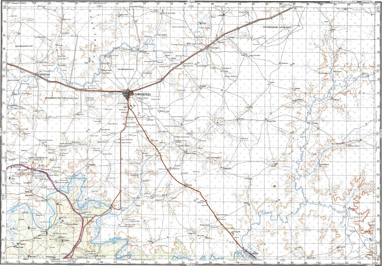 Download topographic map in area of Tambacounda Fatoto Goumbeyel
