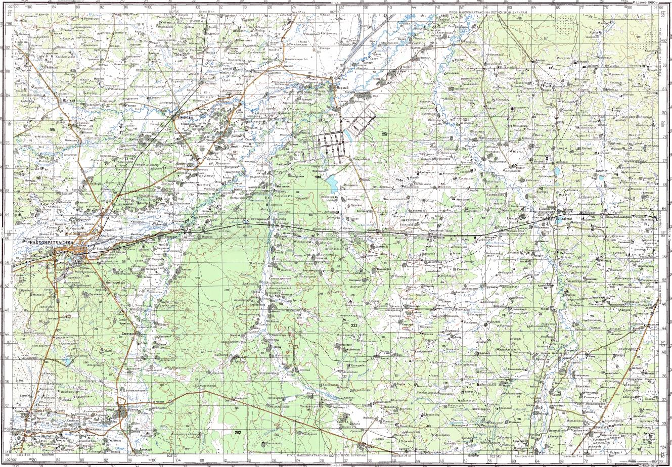 Download topographic map in area of Nakhon Ratchasima Ban Sawai So