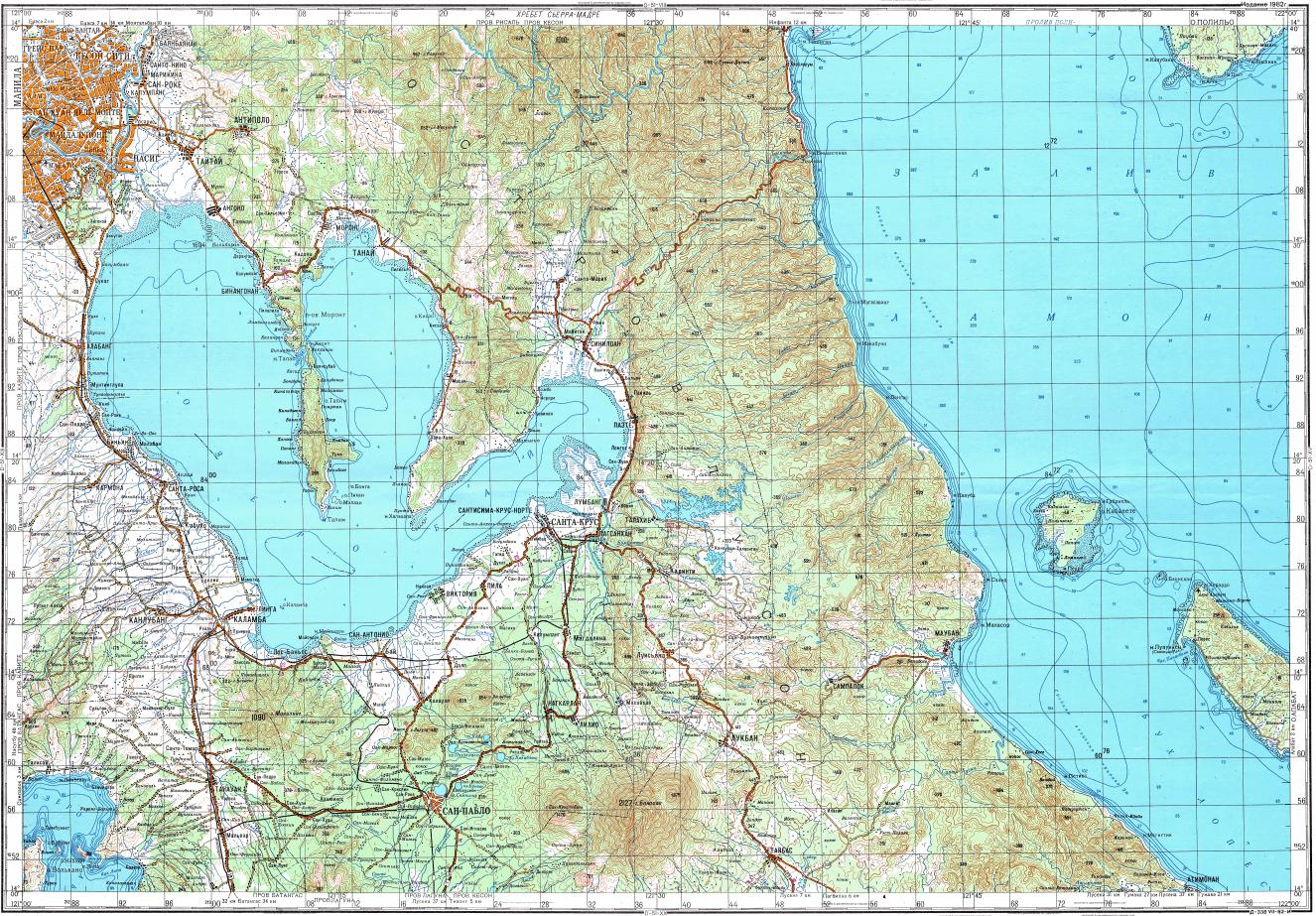 Download topographic map in area of Quezon Quezon City Pasay