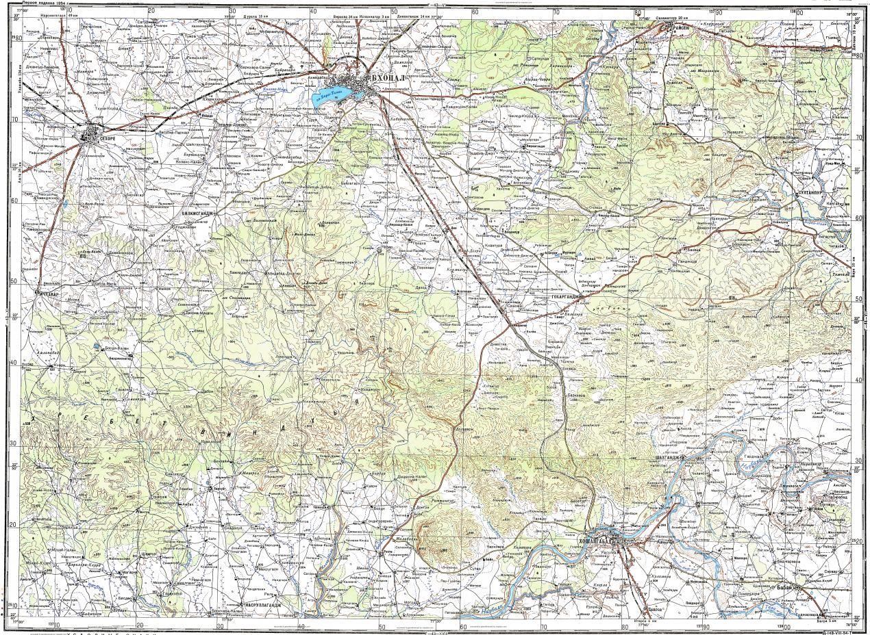 Download topographic map in area of Bhopal Rala Babai mapstorcom