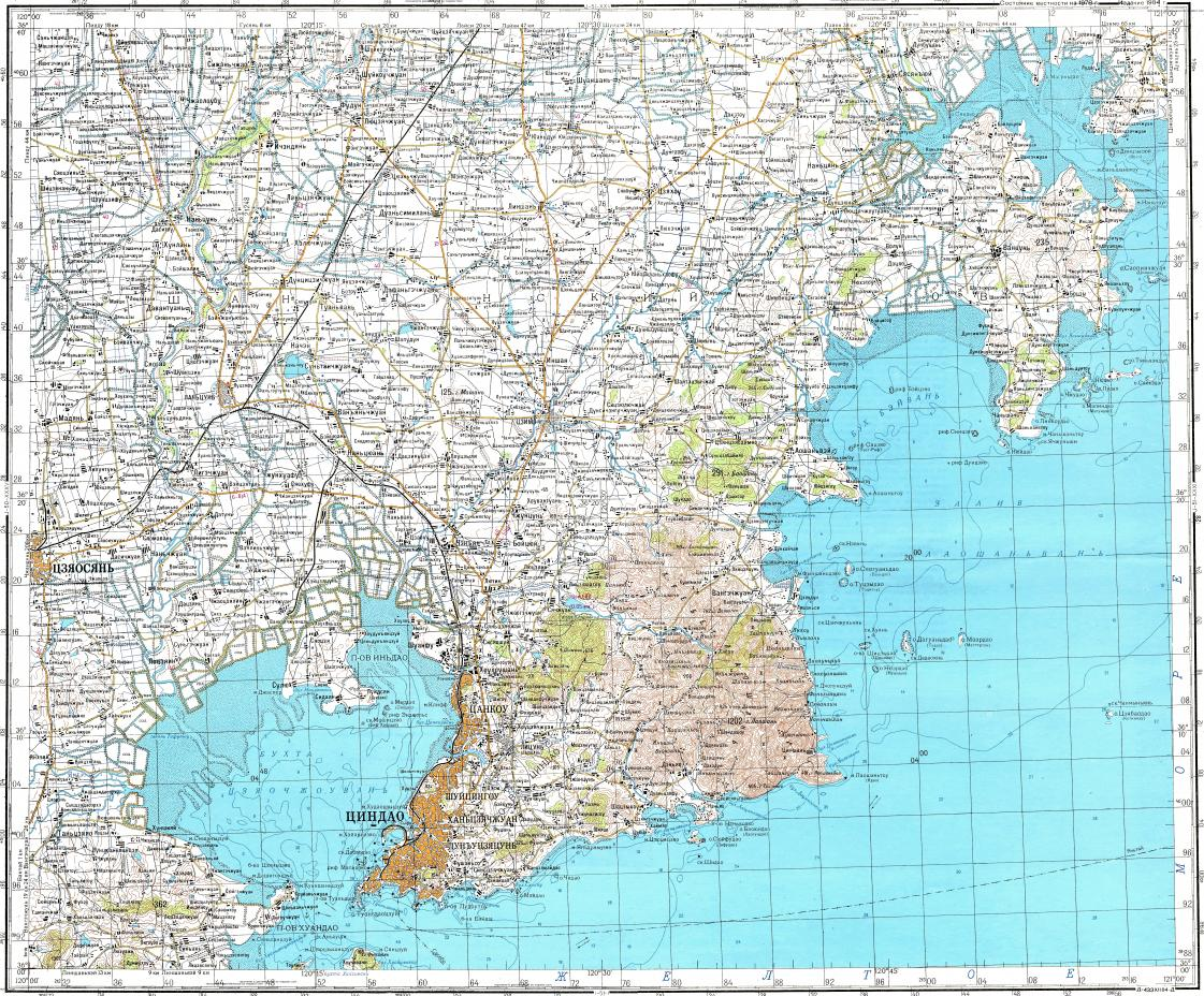 Download topographic map in area of Qingdao mapstorcom