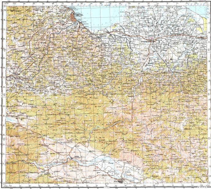 Download topographic map in area of Samsun Carsamba Erbaa