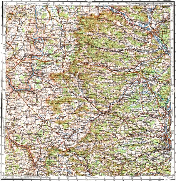 reduced fragment of topographic map ru gs 200k m32