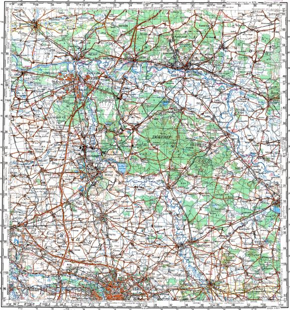 Download topographic map in area of Leipzig Dessau Wittenberg